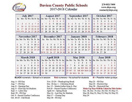 make a school calendar