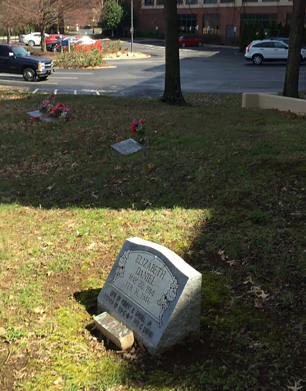 Graveyard next to Hilton Suites