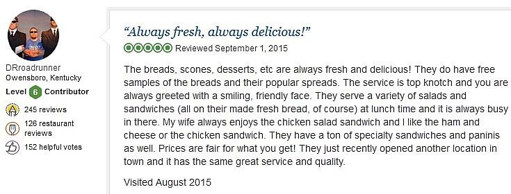 Review from TripAdvisor