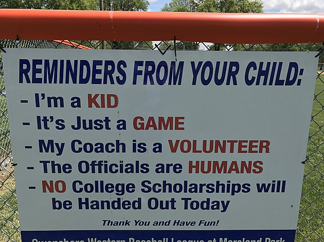 Reminder From Your Child sign
