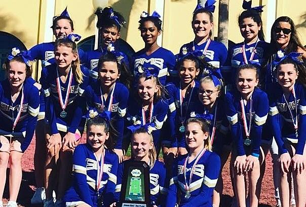 Burns Middle School Cheerleading via Facebook